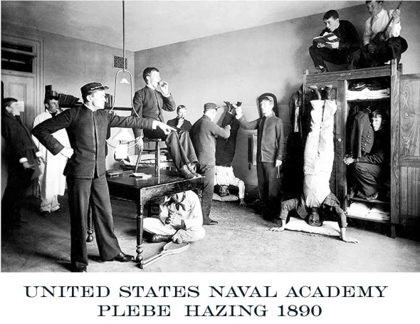 Old school Naval Academy hazing. TFM.