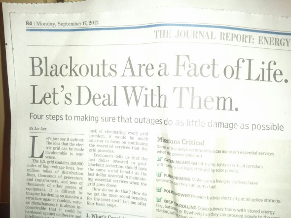 The WSJ must have had their fair share. TFM.