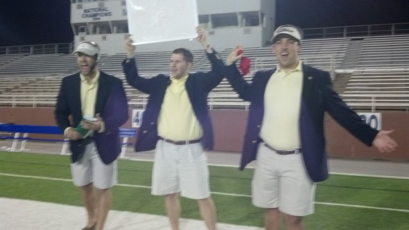 Intramural football coaching staff of the year. TFM.