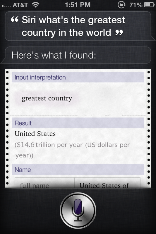 Siri knows. TFM.