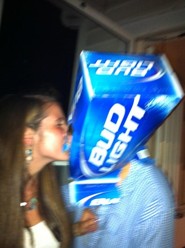 Beer helmet makeout. TFM.