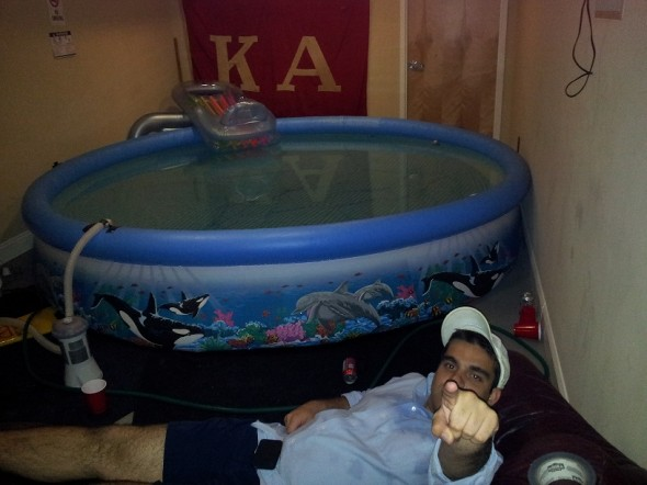 The indoor frat pool power point. TFM.