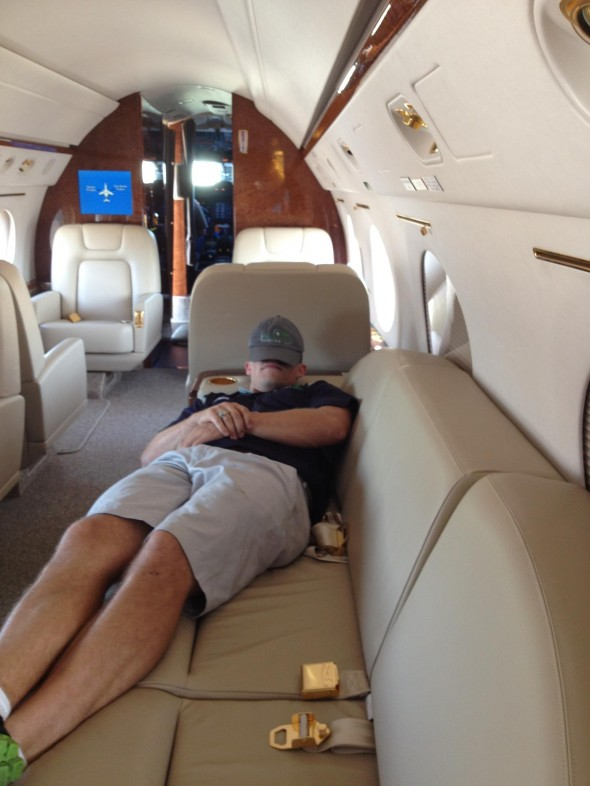 Catching a little shuteye on the way to the Republican National Convention in the G4. TFM.