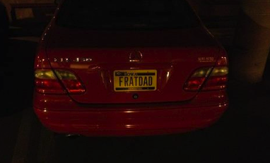 Frat dad and his vanity plates. TFTC.