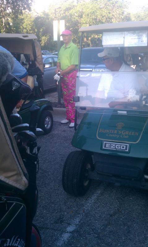 This guy's golf pants. TFTC.