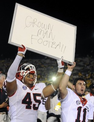 Georgia's message to Mizzou after their win. TFM.