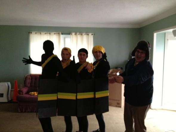 Feel the rhythm! Feel the rhyme! Get on up, it's bobsled time.