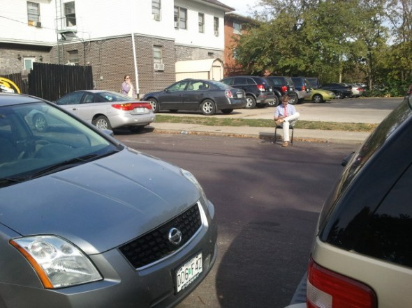 Parking spot pledge has to reserve spots on the street for brothers. TFM.
