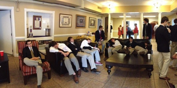 Is it obvious that we went a little too hard on the pledges before alumni day? TFM.