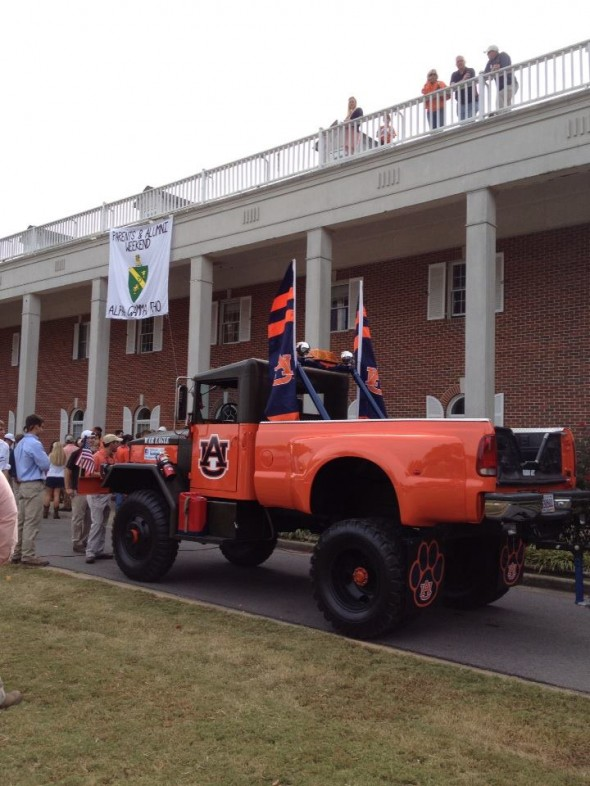 The War Wagon at our tailgate. TFM.