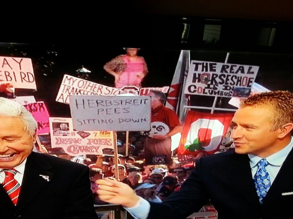 Herbstreit pees sitting down. TFM.