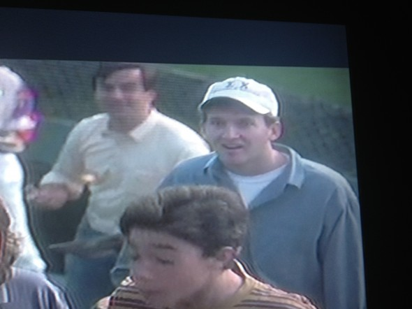 "This extra in the crowd in ""Rookie of the Year"" wearing his frat hat. TFM."