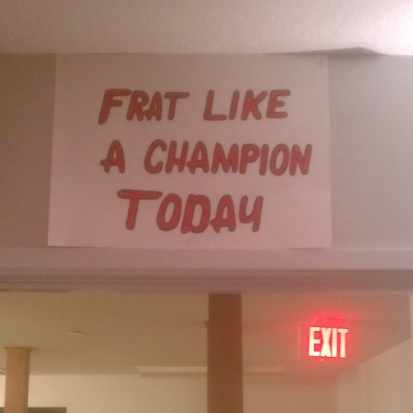 Starting every day right. TFM.