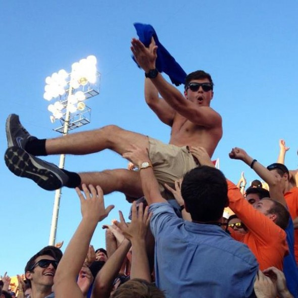 Being the rowdiest block in the student section. TFM.