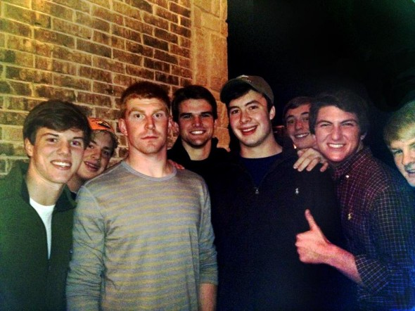 Showing up at Andy Dalton's house at 2:00am for a picture. TFM.