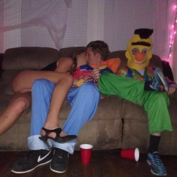 Bert and Ernie Pledges have to stay handcuffed together for the whole party, no matter what. TFM.
