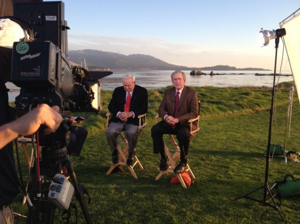 Arnold Palmer and W. at Pebble Beach. TFM.