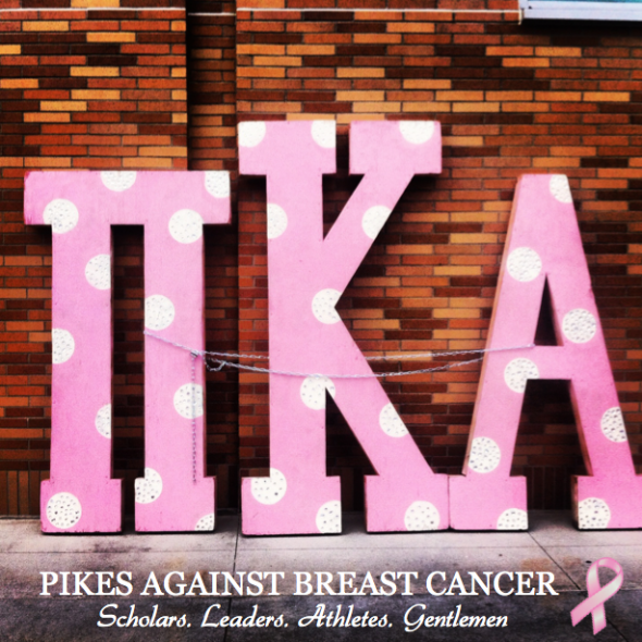 Letters got stolen and painted pink? Breast Cancer Awareness. TFM.