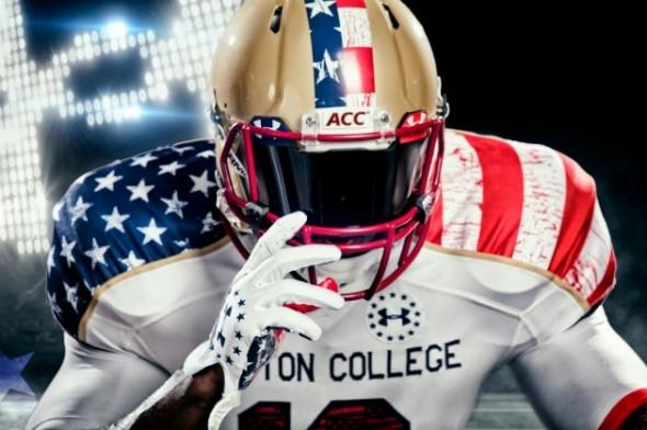 Boston College's new American jerseys. TFM.