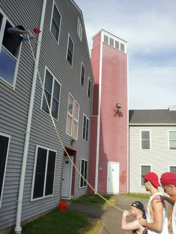 The 15-foot funnel. TFM.