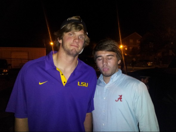 Me and Zach Mettenberger at the bar after the game. Roll Tide Roll! TFM.
