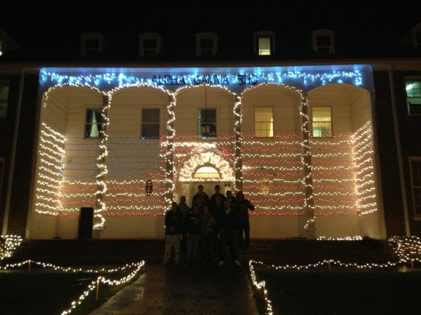 Christmas light crew's finished product. TFM.