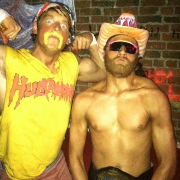 Hulk Hogan and Macho Man Randy Savage.