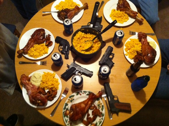 A well-balanced meal. TFM.