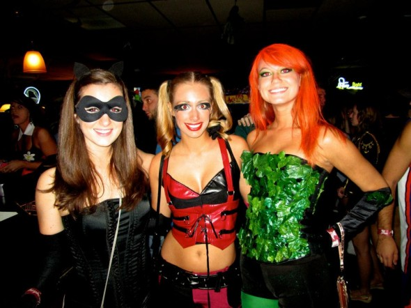 Catwoman, Harley Quinn and Poison Ivy from Batman.