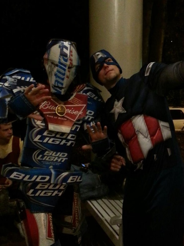 Beeron Man powered by Copenhagen, and Captain America.