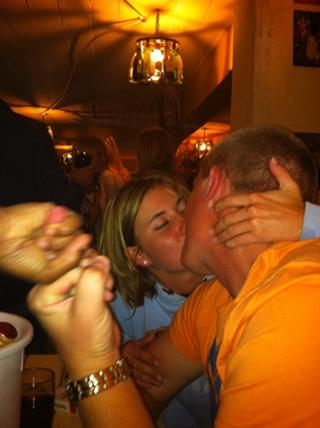 Mid-makeout fist bump. TFM.