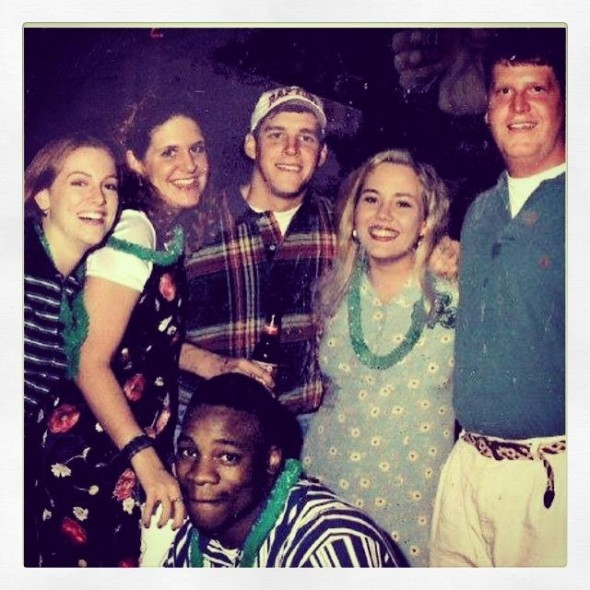 Tennessee legend and RB coach fratting it up at an AXO date party in the 90's. TFM.