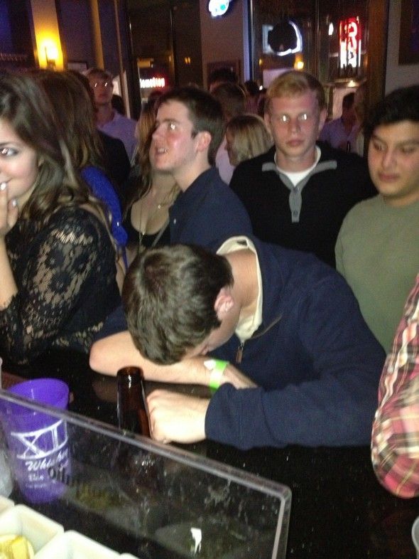 A quick nap while you wait for your next drink. TFM.
