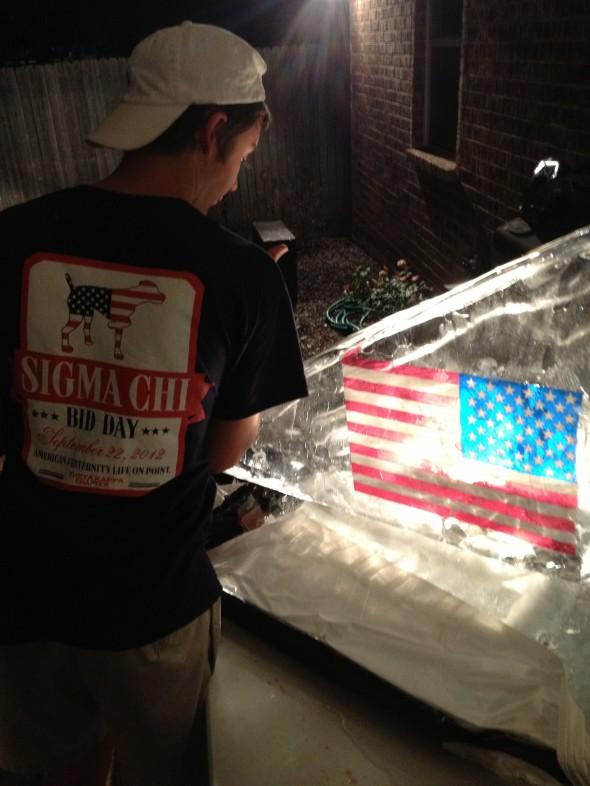 Sigma Chi American ice luge. TFM.