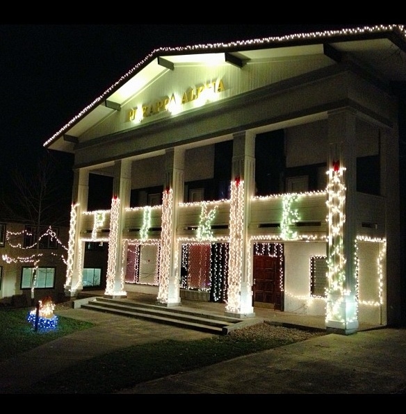 The tradition of always having the best Christmas lights on campus. TFM.