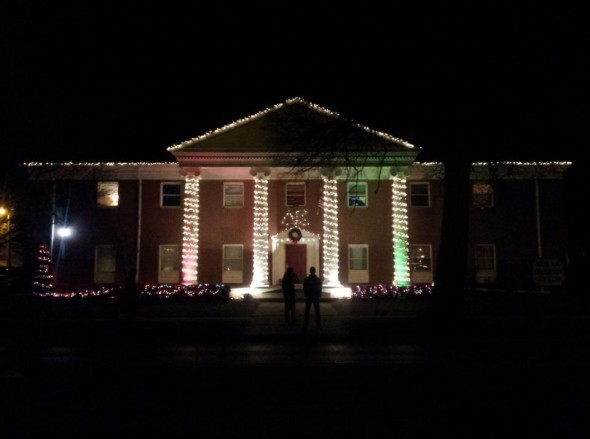 Having the best Christmas lights on campus. TFM.