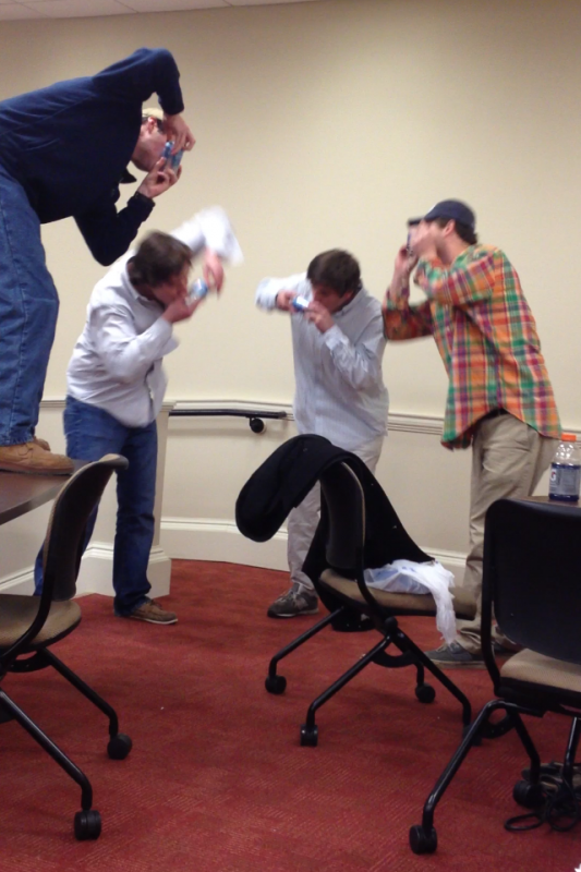 Casually shotgunning for a finals study break. TFM.
