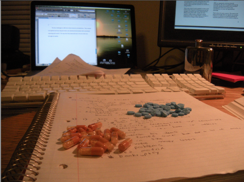 Using performance enhancing drugs during finals week. TFM.