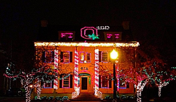 Voted best lights on campus, 9 years running. TFM.