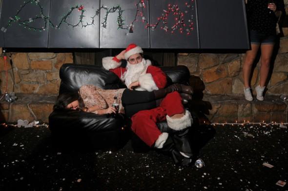 Volunteering to be Santa has its perks. TFM.