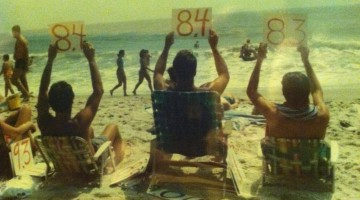 My grandfather rating women as they walk the beach during the 80's. TFM.