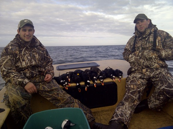 Going duck hunting in 3 ft. seas with 15-20 mph hour winds and still shooting your limit. TFM.