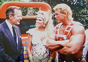 George Bush Sr. hanging out with She-Ra and Heman. TFM.