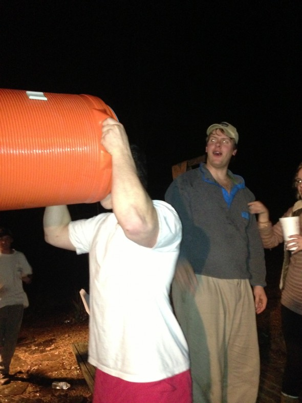 Taking hunch punch to the dome. TFM.