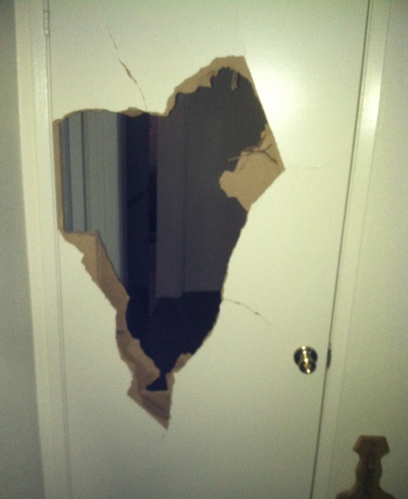 Gonna have to get a new door. TFM.
