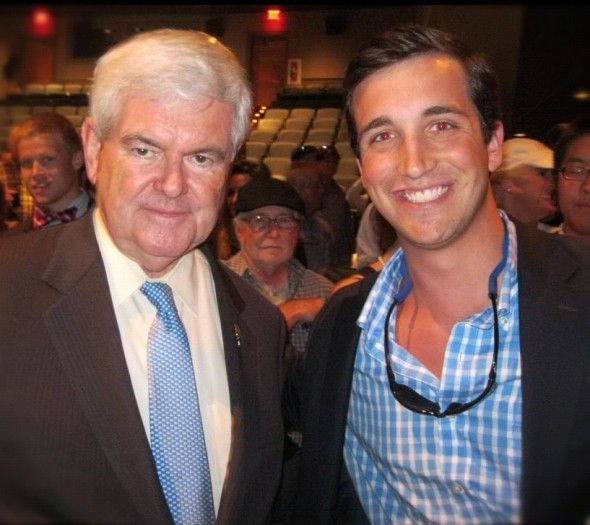 Hanging out with former Speaker of The House, Newt Gingrich. TFM.