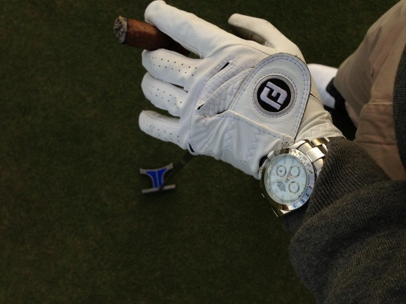 Rolex, Cuban cigar, and a round of golf? TFM.