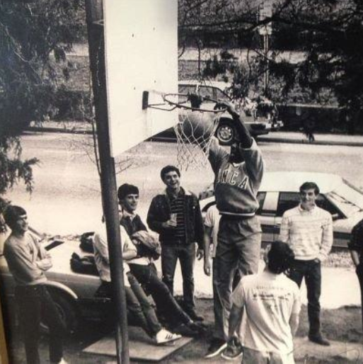 MJ dunking at your fratcastle. TFM.