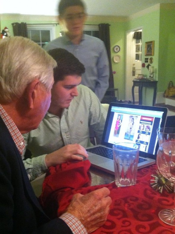 Casually checking out smokeshows with my grandfather after family dinner. TFM.