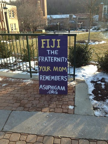 The fraternity your mom remembers. TFM.